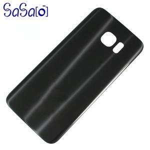 Image 2 - 10 unids/lote de reemplazo de cubierta trasera de cristal para Samsung galaxy S7 G930 / Edge G935, carcasa trasera, funda para puerta de batería con adhesivo