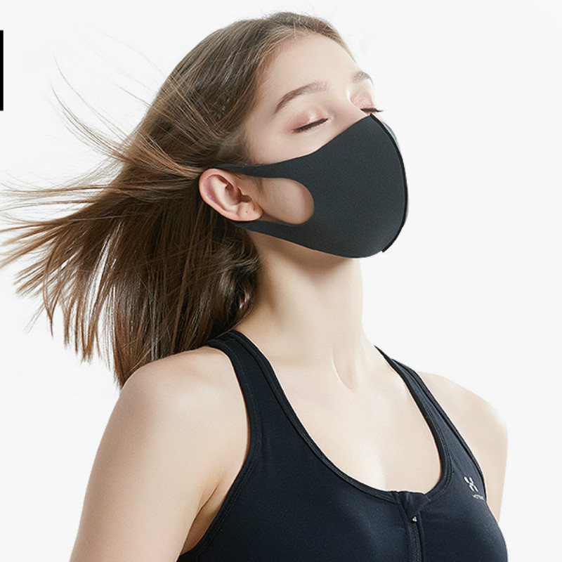Spring, Summer Autumn And Winter Dust Masks, Breathable, Thin, Washable, Return To Work, Anti-fog, Black Ice Silk, Men And Women