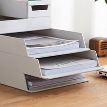 A4 Paper Organizer Document Plastic Case Table Desk Storage Superposition Holder N84A