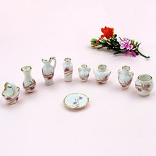 Scene Ceramic Set Pretend Play Toy Doll House Accessories Toy Simulation Ceramic Set Simulation Decoration Doll-house Miniature(China)