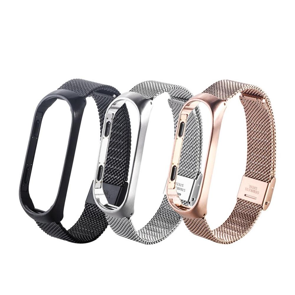 Mi Band 4 Wrist Strap Metal Stainless Steel For Xiaomi Mi Band 4 Strap Bracelet Miband 4 Wristband Replacement Strap