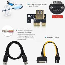 VER009S Plus PCI-E Riser Card 009S PCI Express PCIE 1X To 16X Extender 1M 0.6M USB 3.0 Cable 6Pin Power For GPU Mining Miner