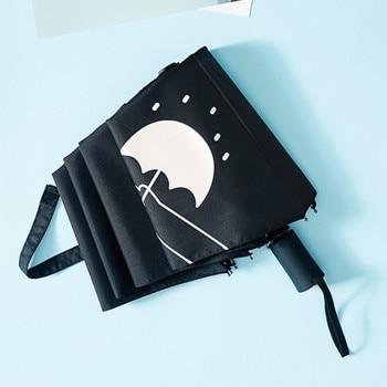 Printing Folding Umbrella Fashion Creative Pocket Anime Automatic Umbrella Reverse Academy Regenschirm Household Items YY50YS