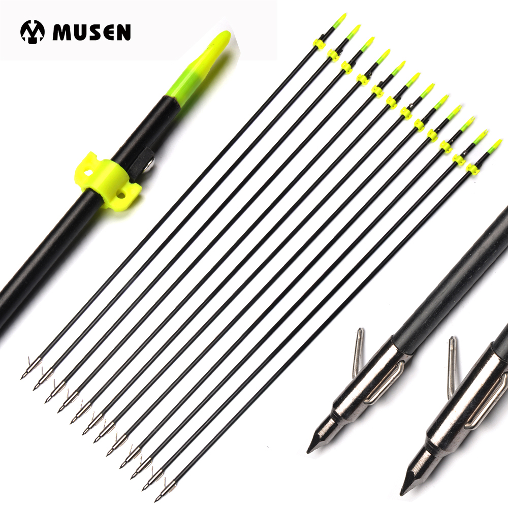 35 Inches Fishing Arrow Glass Fiber Shaft Spine 300 for Compound Recurve bow Hunting Shooting Archery