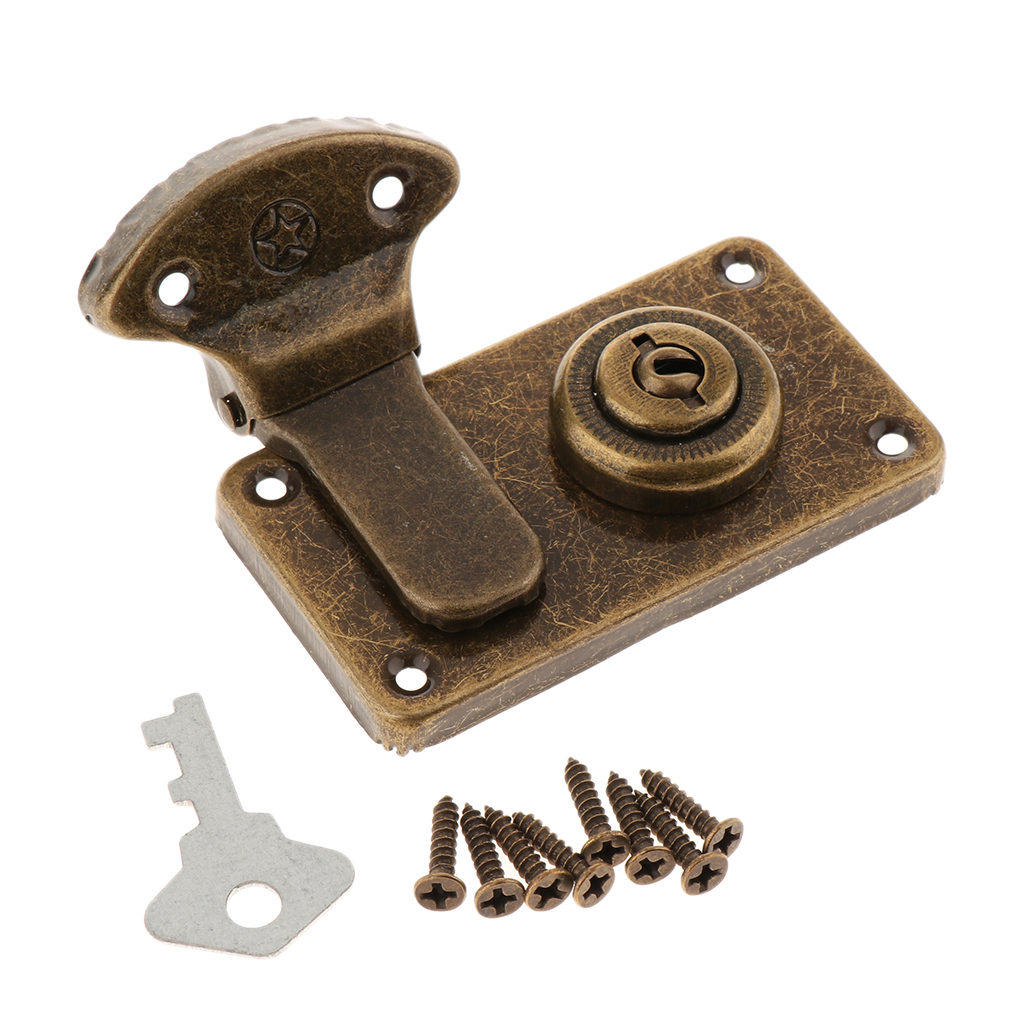 Metal Trunk Buckle Shackle Lock Latch Bolt for Wooden Chest Drawer Dresser Trunk Box Case Lockset Locker Buckle Latch