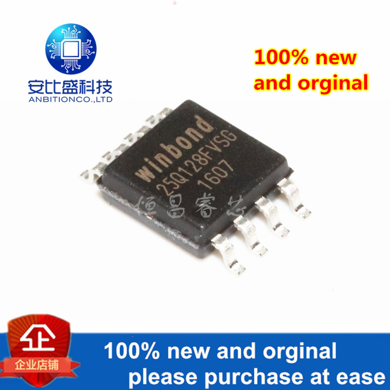 2pcs 100% New And Orginal W25Q128FVSIG Silk-screen 25Q128FVSIG 128Mbits SOP8 In Stock