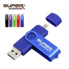 Unidad flash usb 2,0, 4gb, 8gb, 16gb, 32 gb, lápiz de memoria usb, 64gb, OTG, unidad flash usb de metal para teléfono