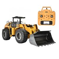 HUINA 583 RC Truck Excavator Hobby Bulldozer Alloy Engineering Truck Remote Control Toys for Boys Auto RC Hydraulic Construction