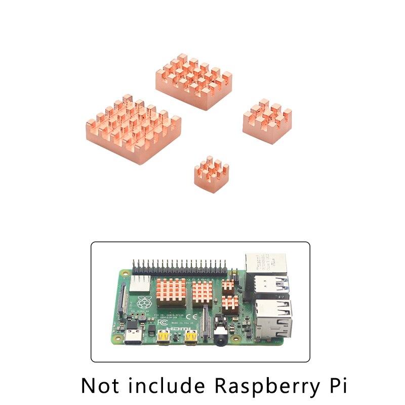 Raspberry Pi 4 Model B Heat Sink Metal Copper Heatsink Passive Cooling Pad  Heat Dissipation Radiator For Raspberry Pi 4