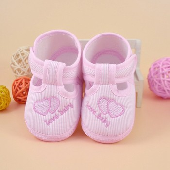 0-10M Newborn Girl Boy Girls Soft Sole Crib Toddler Shoes Canvas Sneaker High Quality First Walker Comfortable Warm Casual image