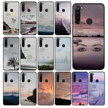 Yinuoda Rupi Kaur Beach Sea Mountain Lines Art Poetry Phone Case for Xiaomi Redmi 5 5Plus 6 6A 4X 7 8 Note 5 5A 7 8 8Pro image