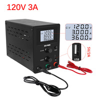 Adjustable Laboratory Power Supply Switching LCD Voltage And Current Regulator Power Supplies Bench Source Digital 0 120V 0 3A