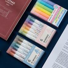Кавайная ручка хайлайтер «Зебра» 6 цветов/комплект