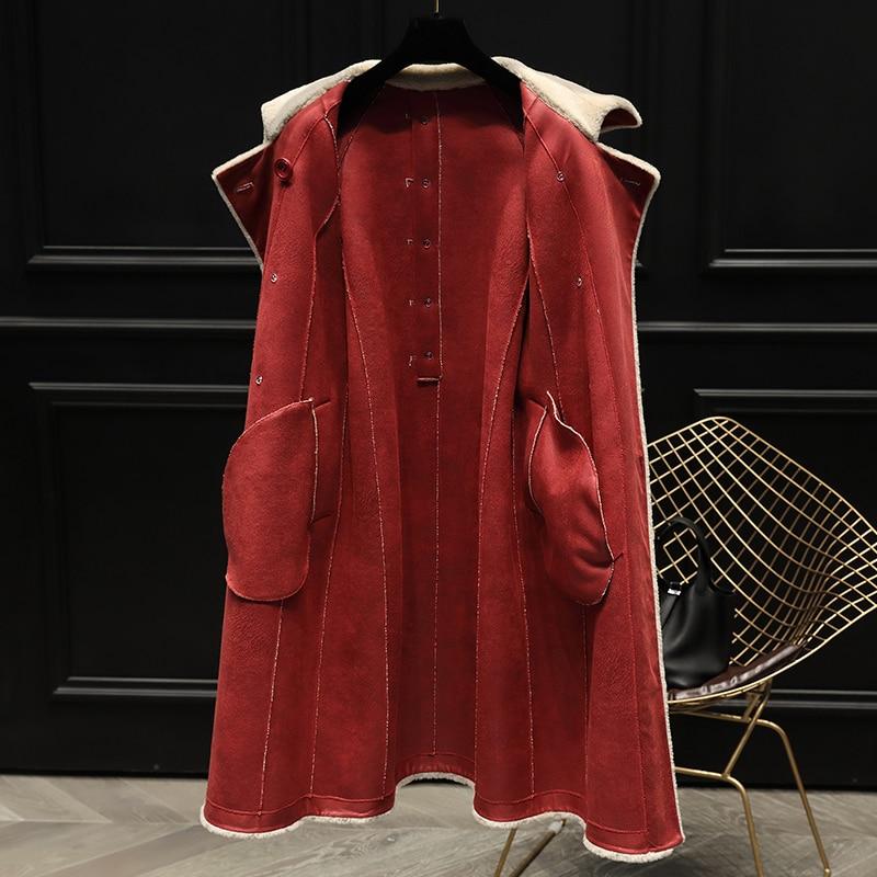 Real Winter Sheep Shearling 2020 Fur Coat Winter Jacket Women Wool Coats and Jackets Women Clothes Korean Long Jacket s s