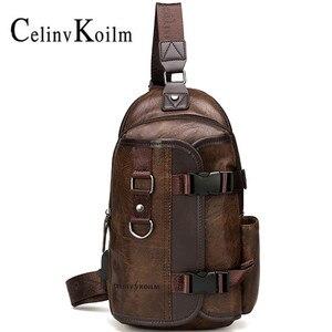 Image 1 - Celinv Koilm iPad wodoodporna męska nerka podróżna, opakowanie na klatkę piersiową, nowa wielofunkcyjna torba wisząca crossbody, torba męska