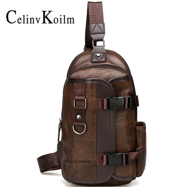 Celinv Koilm iPad wodoodporna męska nerka podróżna, opakowanie na klatkę piersiową, nowa wielofunkcyjna torba wisząca crossbody, torba męska