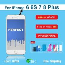 Categoria aaa + + + para iphone 6s mais display lcd com digitador da tela de toque 3d para iphone 6 plus 7plus 8 plus pixel nodead + presente