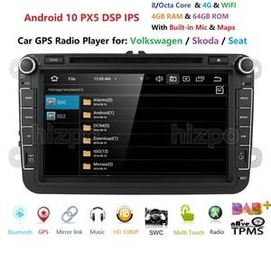 Image 2 - 8 inch Android 10 RAM 4GB ROM 64GB Auto Multimedia Player Player für VW Golf 5 Caddy Passa b6 Sitz Leon GPS WIFI Auto DVD