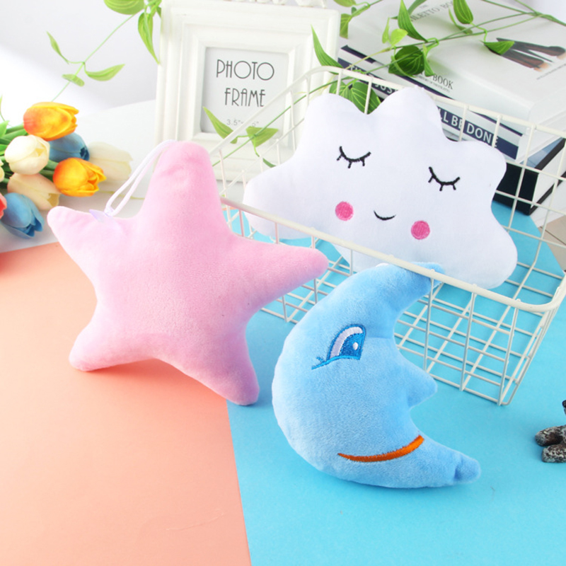 Baby Pillows Multifunction Dolls Pendant Soft Pillow Cute Decorate Cloud Lady Pillow Cloth Doll Star Moon Cloud For Newborn