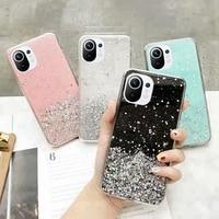 Luxus Bling Glitter Telefon Fall für xiaomi mi 10 10T 10S 11 NFC 11i pro lite Ultra 5G Globale Version für xiaomi fall zurück abdeckung
