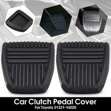 Preto freio embreagem pedal almofada de borracha capa trans veículos para toyota/camry/celica/paseo/rav4/tacoma #31321-14020 #31321-14010