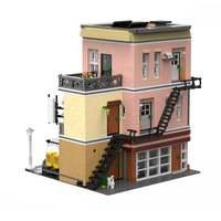 2919PCS City Streetview series The Bake Shop Model Building Kits Blocks Bricks Kids Toys Gifts Christmas gift