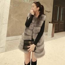 Vetement, зимнее женское пальто из искусственного меха, пэтчворк, меховой женский длинный жилет, Элегантный жилет размера плюс, жилет из искусственного меха AW280