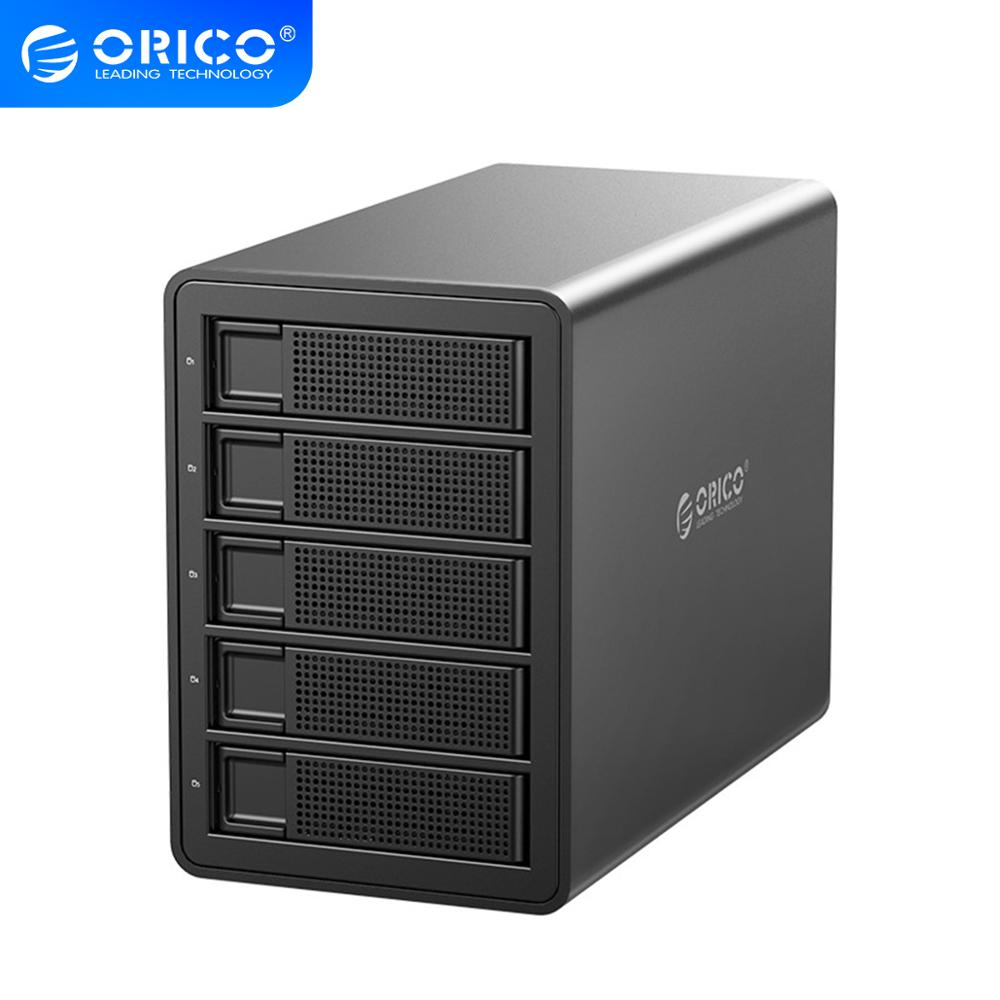 ORICO 35 Series 5 bay 3.5'' HDD Docking Station USB3.0 to SATA With <font><b>RAID</b></font> HDD <font><b>Enclosure</b></font> 150W Internal Power Adapter HDD Case image