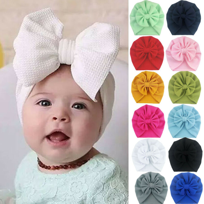 Cute Newborn Hat Fashion Toddler Kids Baby Boys Girls Caps Solid Color Indian Turban Knot Silk Beanie Hat Cap Accessories 0 18m Hats Caps Aliexpress