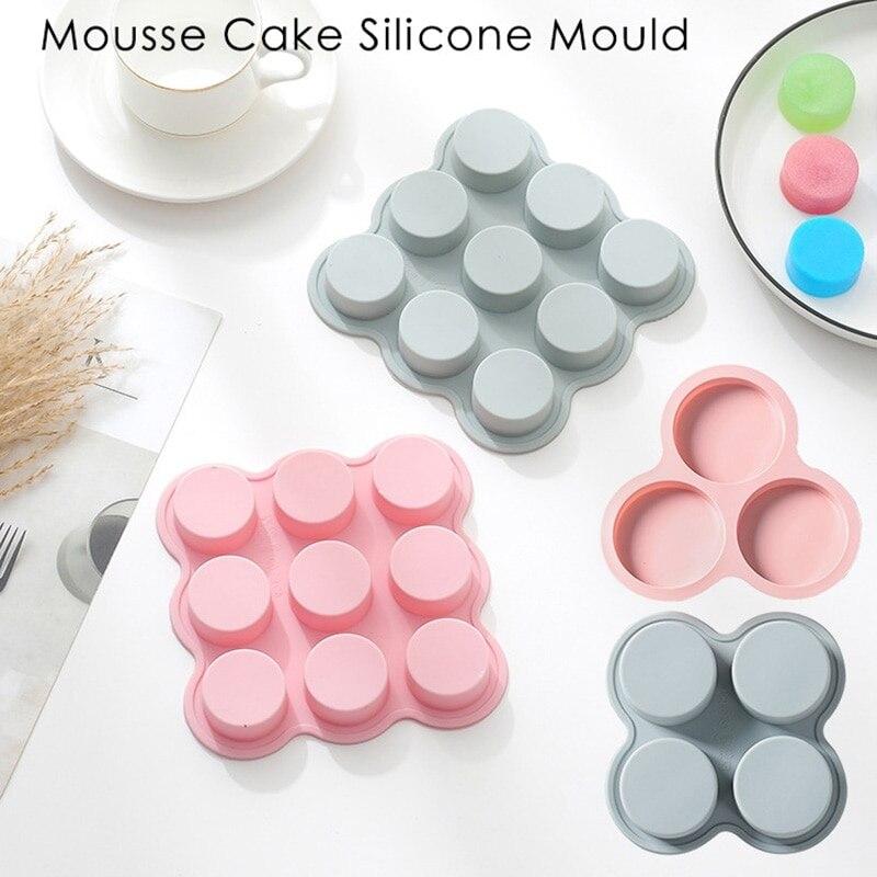 Простая круглая форма для мыла 9 полостей цилиндрическое мыло ручной работы силиконовая форма «сделай сам» Торт Шоколад Форма для изготовления торта инструменты Формы для тортов    АлиЭкспресс - форма для выпечки