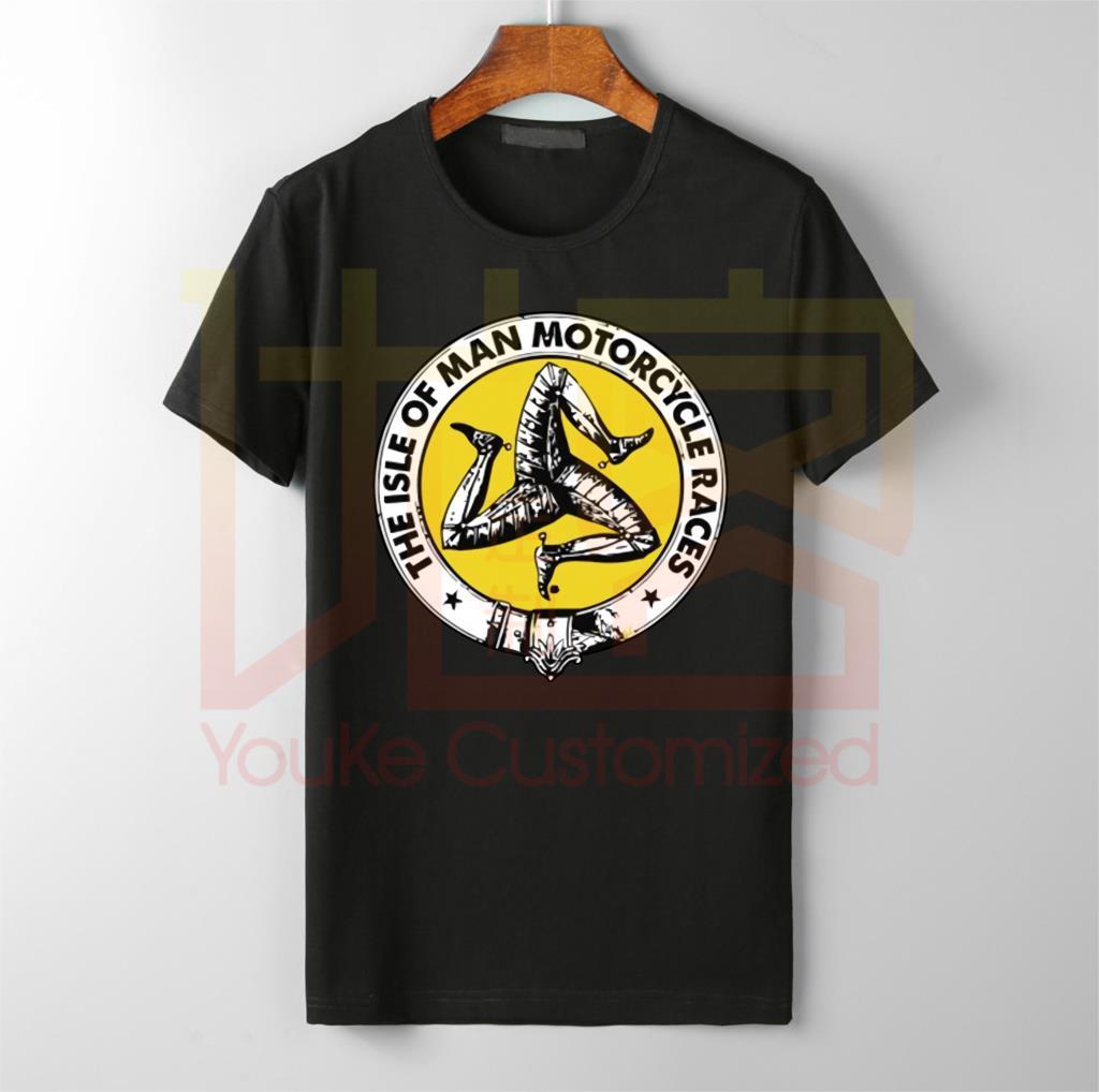 Isle Of Man Motorcycle T Shirt Cotton Cool Casual Tee Shirt Big