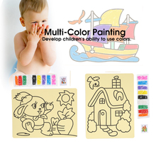 Sand Painting Toy Kit Drawing Board Set DIY Educational Painting Tool for Children
