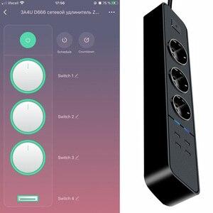 Image 5 - Smart Wifi multiprise protection contre les surtensions prises multiples 4 ports USB minuterie voix sans fil télécommande par Echo Alexa Google Home