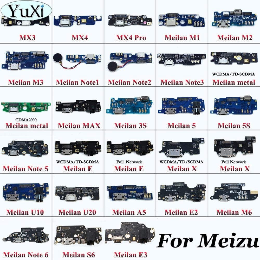 YuXi 1pcs Dock Connector Micro USB Charger Charging Port Flex For MEIZU MX3 MX4 MX4 PRO MX5Pro M1 NOTE M1 M2 M3 M5 MINI U10 U20
