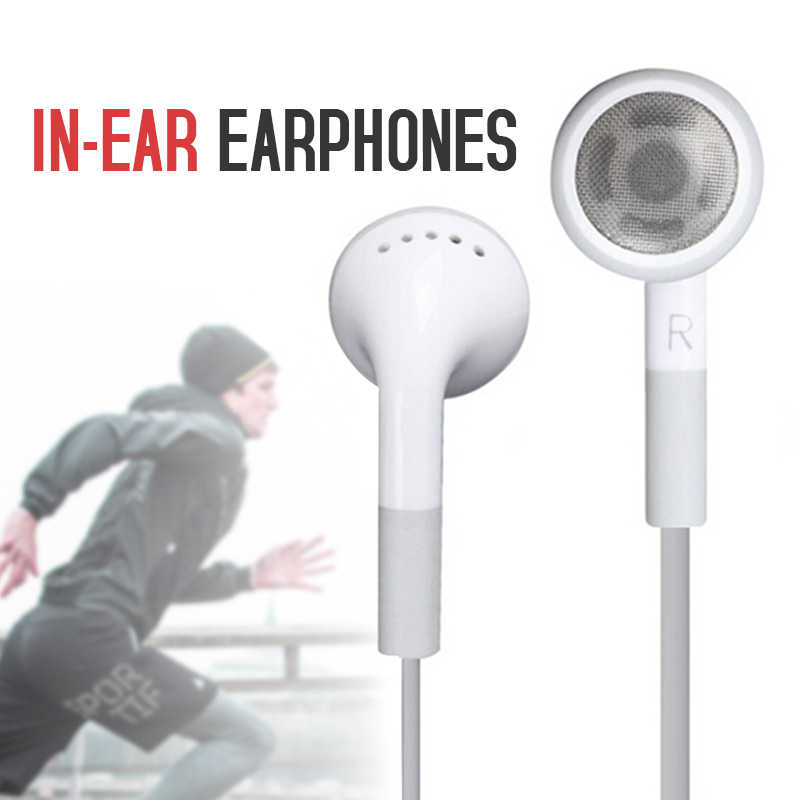 Putih 3.5 Mm In-Ear Earphone Olahraga Earbud Ponsel Aksesoris Kabel Earphone untuk Smartphone Headset