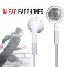 White 3.5 mm in-ear earphones a Sports Earbuds a Cell Phone Accessories Wired Ea
