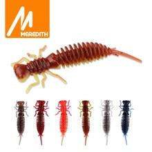 MEREDITH Larva 50mm 62mm 85mm yumuşak plastik Lures Larva yüzen tatlısu Swimbaits silikon yumuşak yem solucan balıkçılık Lures