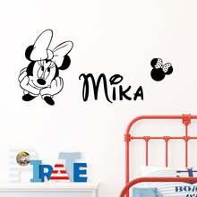 Виниловые наклейки на стену с изображением Микки Мауса и Минни