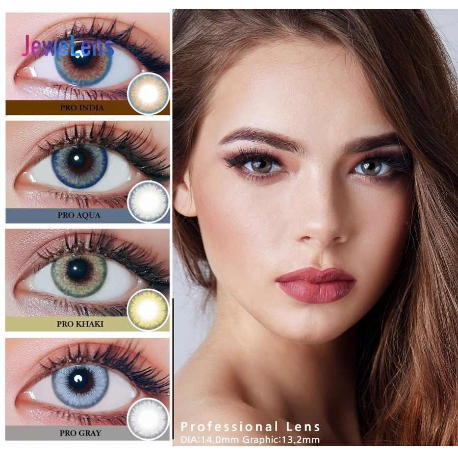 Jewelens kolorowe soczewki kontaktowe kolorowe szkła do oczu kosmetyk kolorowy naturalny kryształ Con 3tone Pro2 Series