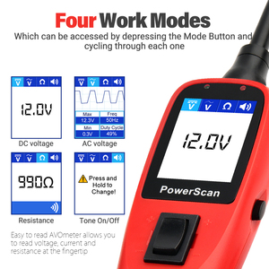 Image 3 - Autel PowerScan PS100 Elektrische System 12V/24V Diagnose Circuit Tester Werkzeug Elektrischen Tester & Test Führt