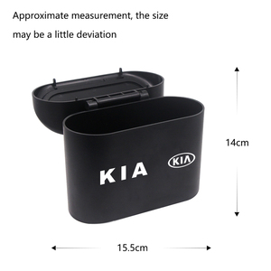 Image 3 - Lata de lixo do carro assento de carro porta traseira pendurado caixa de armazenamento lata de lixo para kia k2 k3 k5 k9 ceed sportage sorento cerato sid r rio alma