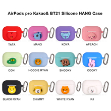 Luxury 3D Cute Korean Silicone Case for Apple Airpods pro Case Accessories Bluetooth Earphone Cartoon Protective Cover Key Ring 3d lucky rat cartoon bluetooth earphone case for airpods pro cute accessories protective cover for apple air pods 3 silicone