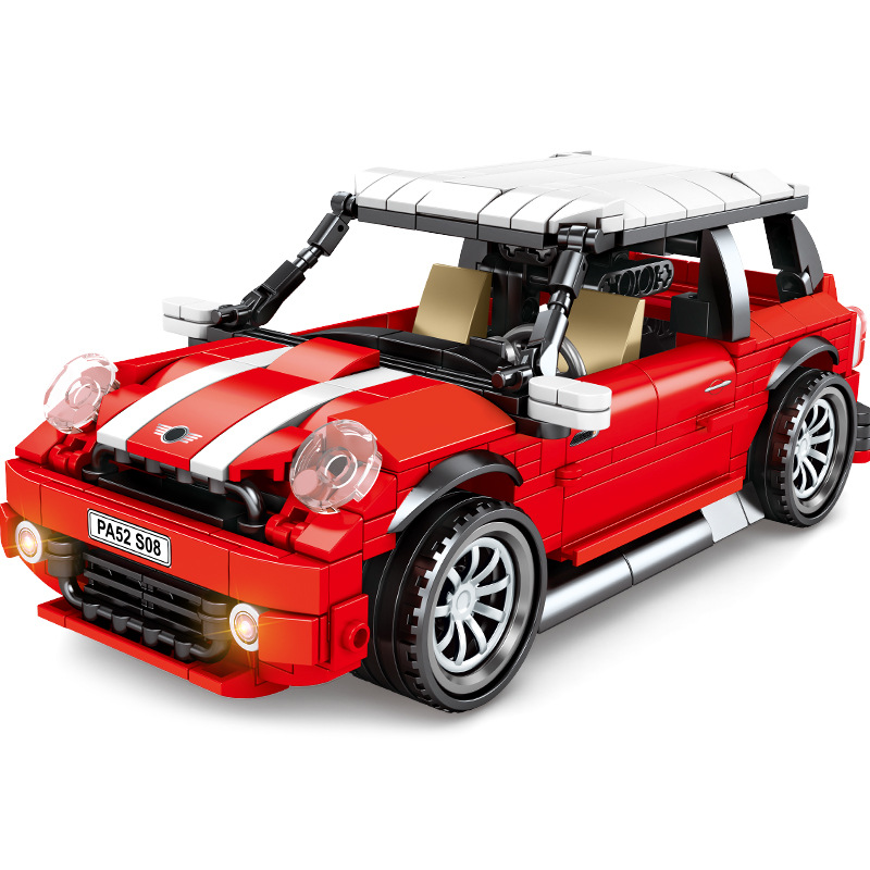 NEW Technic Super Racing Vehicle Classic MINI Pull Back Beetle Car Building Blocks Sets Bricks Model Toys Compatible 10271 image
