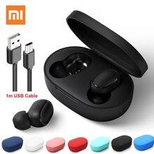 Xiaomi Redmi AirDots Drahtlose Bluetooth 5,0 Lade Kopfhörer In ohr stereo bass Kopfhörer AI Control Mit Mic Freihändiger Ohrhörer