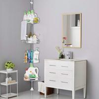 Bad Zubehör Küche Zubehör 4 Schicht Ecke Lagerung Regal Handtuch Waschen Liefert Organisation Haken Halter HWC