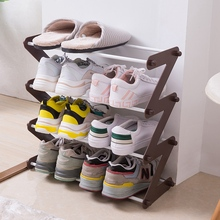 Home Multi-Layer Simple Assembly Oxford Cloth Shoe Rack Living Room Bedroom Multi-Function Iron Shoe Rack Debris Storage Rack stainless steel shoe rack oxford cloth simple shoe rack dormitory multilayer shoe storage rack stackable storage rack
