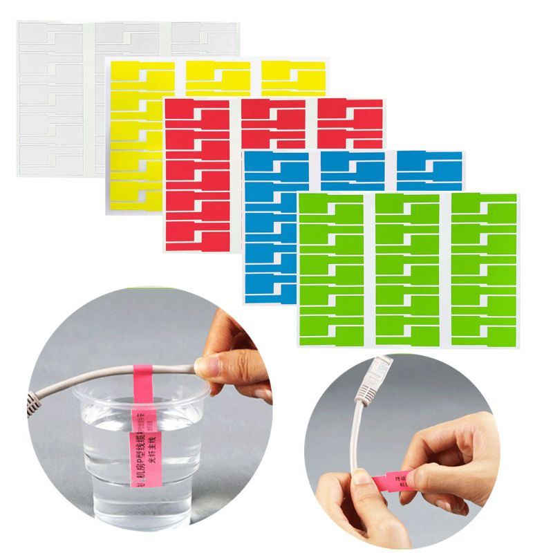 30Pc Cable Labels Sticker Waterproof Identification Tags Work With Laser Printer M89B