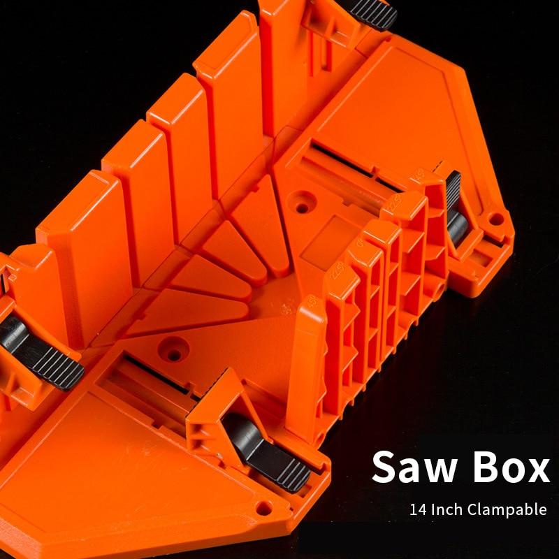 14 cal piła Box cięcie drewna mocowania piła ukośna pudełko piła do obróbki drewna 0/22. 5/45/90 stopni ukośny listwa drewniana tynk linii