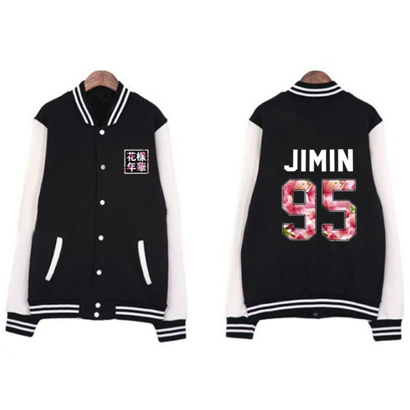 BTS Celebrity Style Bulletproof Boys Related Products Should Aid Baseball Uniform Women's Spring And Autumn Korean-style Student