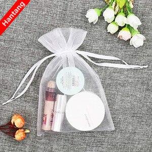 50pcs tulle bags Organza Sheer Gauze Element Jewelry Bags Packing Drawable Organza Bags Wedding Christmas Organza Gift Bag 5z(China)
